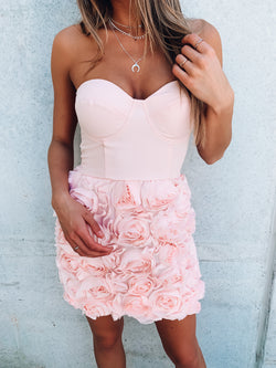 Jane Floral Bustier Dress