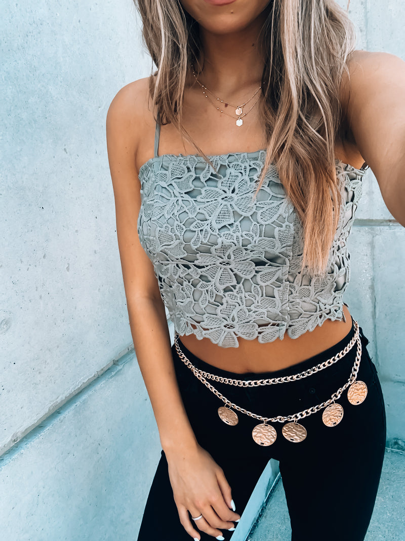 Robin Floral Lace Crop Top