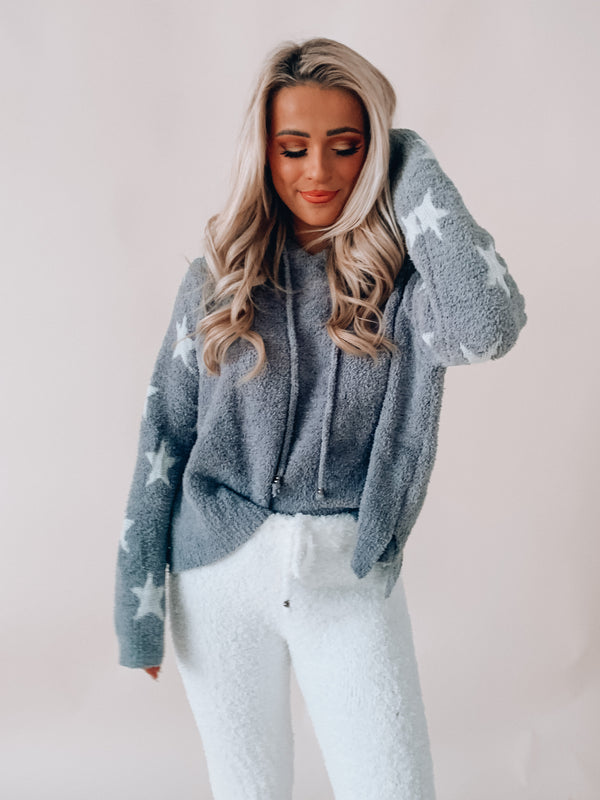 Grey In The Stars Chenille Hoodie