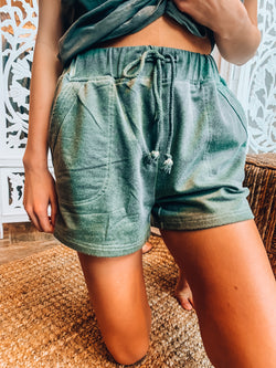 On The Run Olive Lounge Shorts
