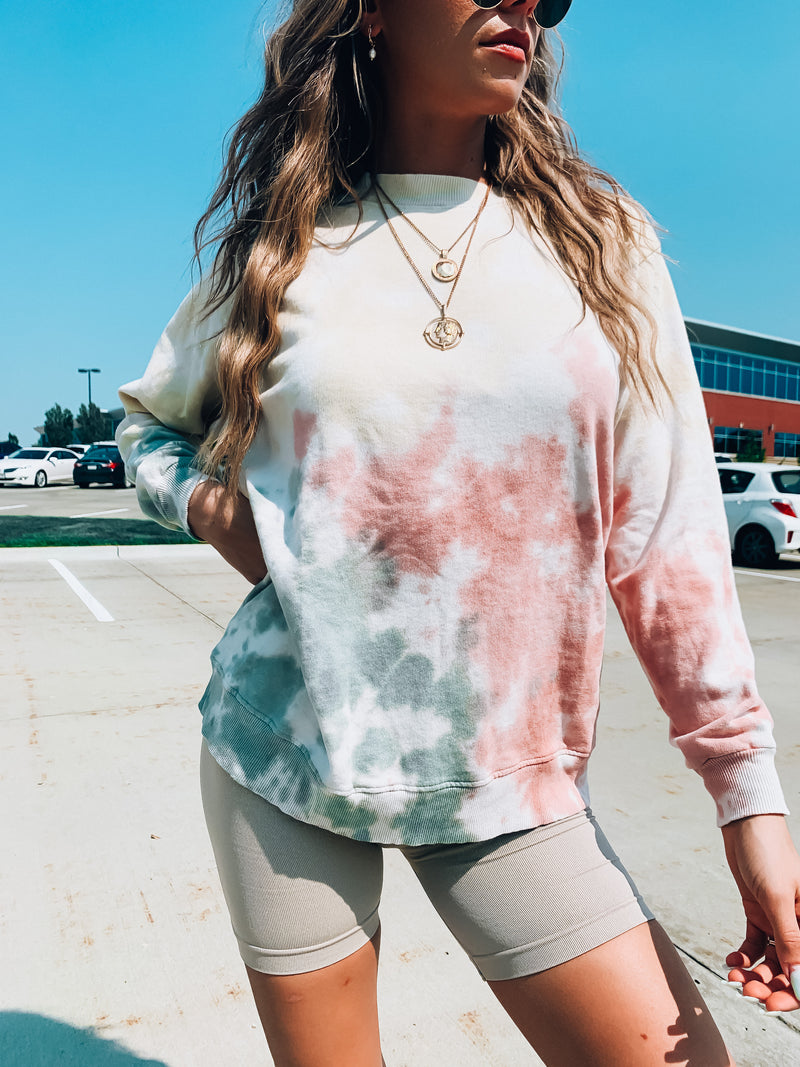 Splattered Tie Dye Crewneck