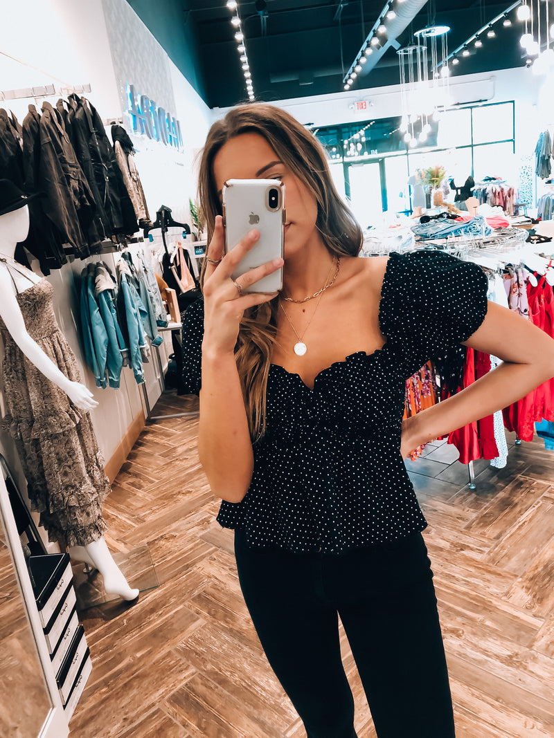 Melinna Polka Dot Top