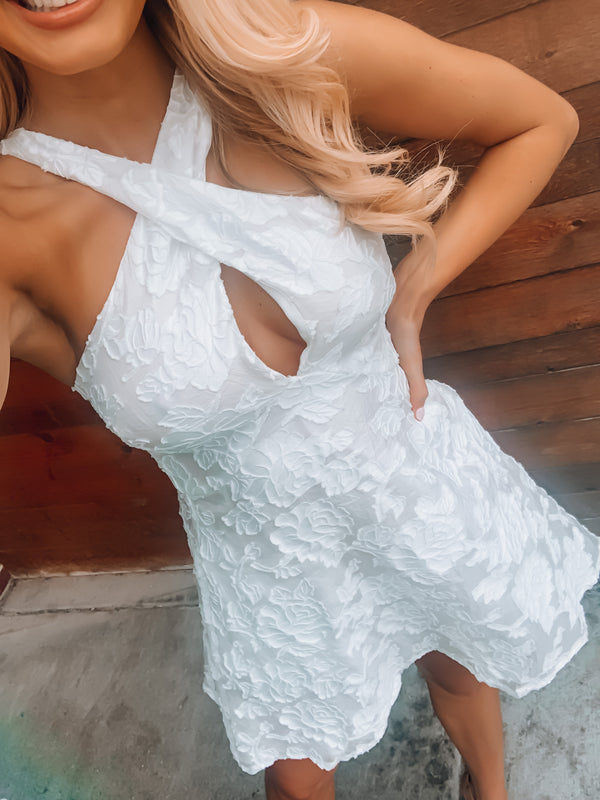 Feels Like Forever White Floral Dress