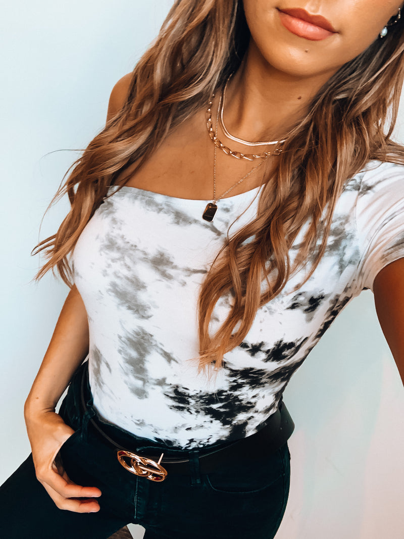 Marble One Shoulder Bodysuit