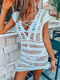 Ivory Vacation Knit Swimsuit Cover