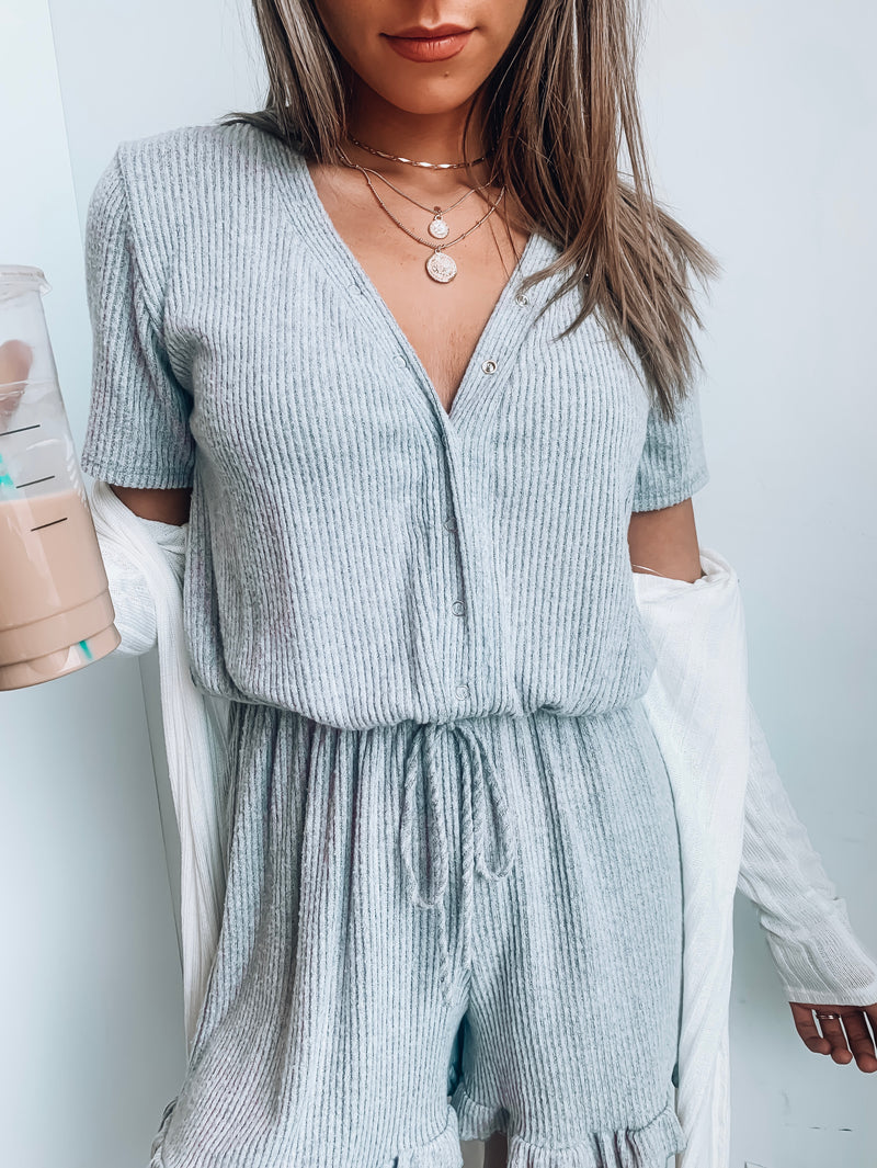 Grey Time Out Romper
