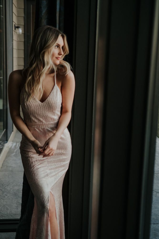 Dazzling Blush Maxi Dress