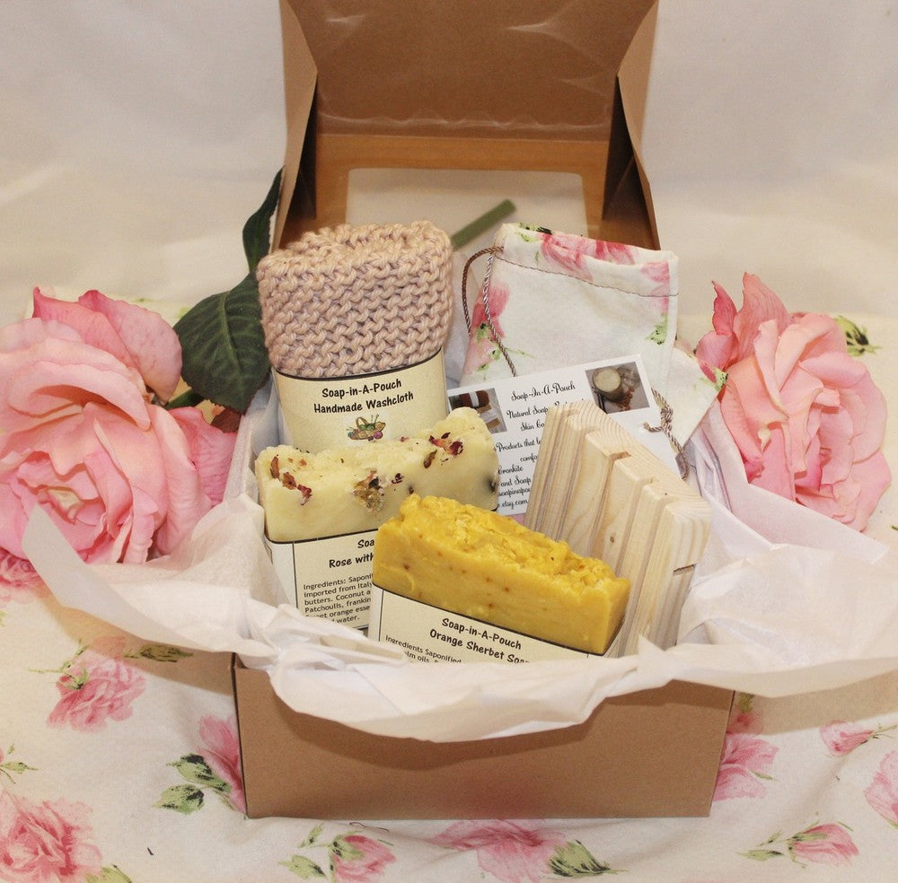 Handmade Soap Gift Set/Soap Gift Set/Natural  Bath Gift Set