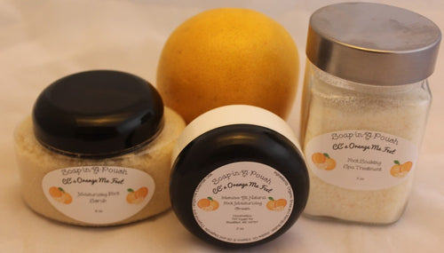Orange Me Feet Foot Spa Set/Orange Foot Spa Treatment Set