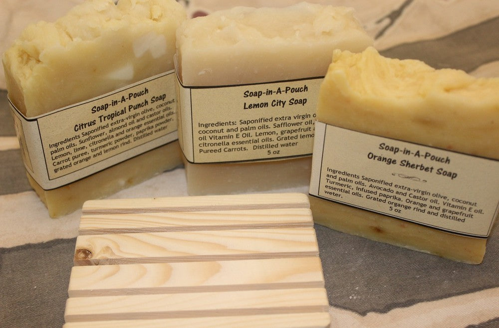 Citrus Soap Collection/Lemon Soap Gift Set/Handmade Citrus Soap Collection
