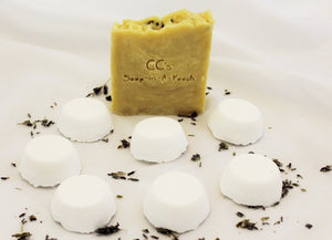 Natural Lavender Soap with Mint and Lavender Shower Steamers