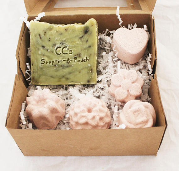 & Peppermint Tea Soap and Shower Steamers Spa Gift Set