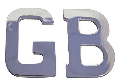 Self Adhesive Stainless Steel GB Letters