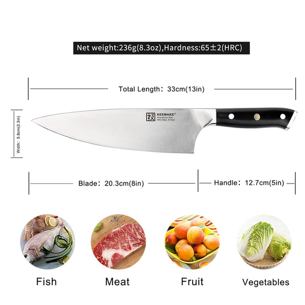 "Liquidmetal(TM) 8"" Chef Knife 