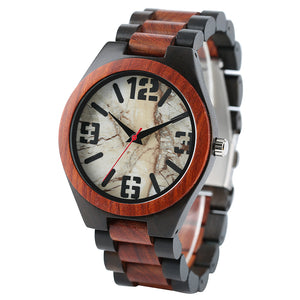 Natural Wood Casual Men's Wrist Watch | 100% Real Bamboo - Qatalyst