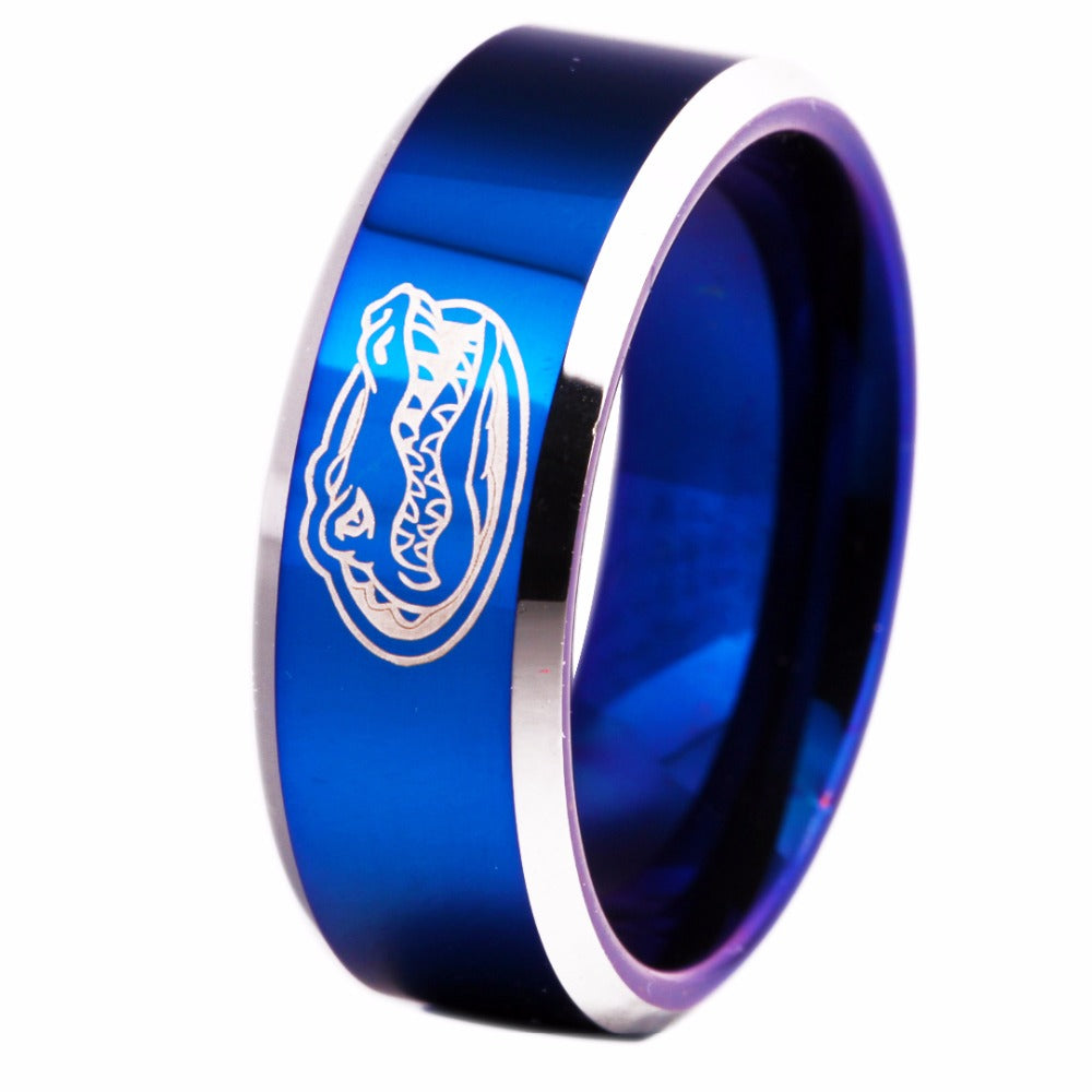 University of Florida Gators | UF | Tungsten Ring Band | Blue and Silver | 8MM - Qatalyst