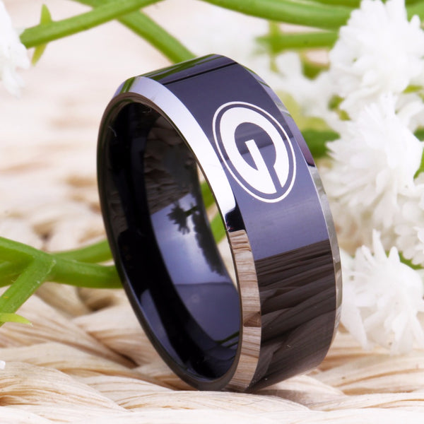 University of Georgia Bulldogs | UGA | Tungsten Ring Band | Black and Silver | 8MM - Qatalyst