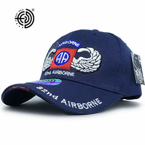 U.S. Army 82nd Airborne Logo Embroidered Baseball Cap - Qatalyst