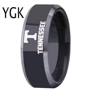 University of Tennessee | UT | Tungsten Ring Band | Black and Silver | 8MM - Qatalyst