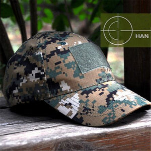 Camouflage Tactical Snapback Baseball Cap | Military | Operator | 3in x 2in Rectangle Velcro - Qatalyst