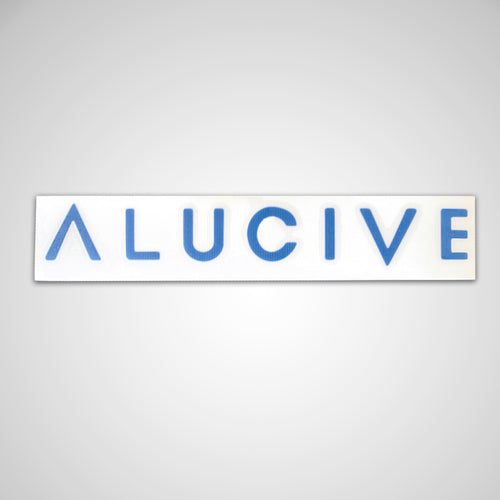 Alucive Word Sticker (5.5in x 1in)