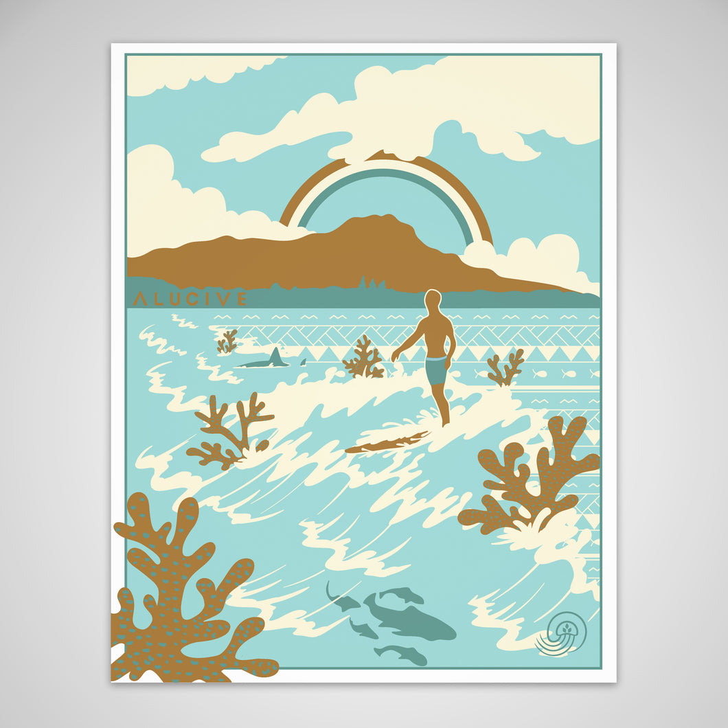 Waves Past  11in x 14in Poster