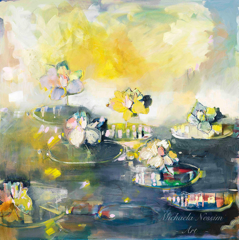 A cure for dreamers' yellow waterlilies