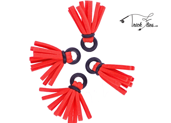 Foam Strike Indicator Red 4pk - Trickflies