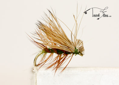 Elk Hair Caddis Olive - Trickflies