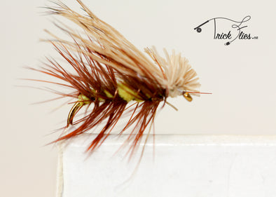 Elk Hair Caddis Yellow - Trickflies
