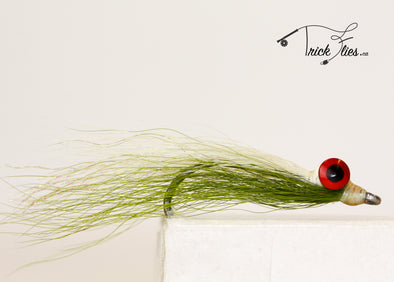 Clouser Minnow Olive/White - Trickflies
