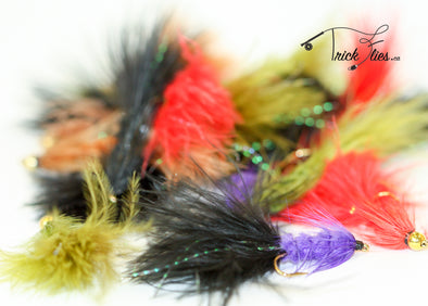 Woolly Bugger 21 Fly Collection - Trickflies