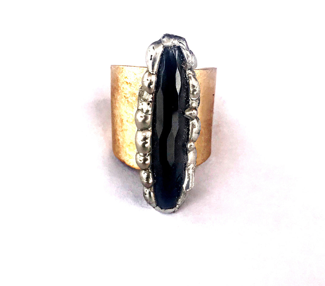 ✨onyx and brass ring✨