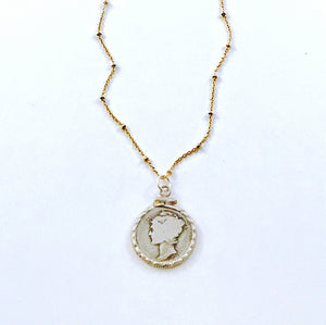 ✨14Kt gold filled & Sterling SilverCoin Necklace✨