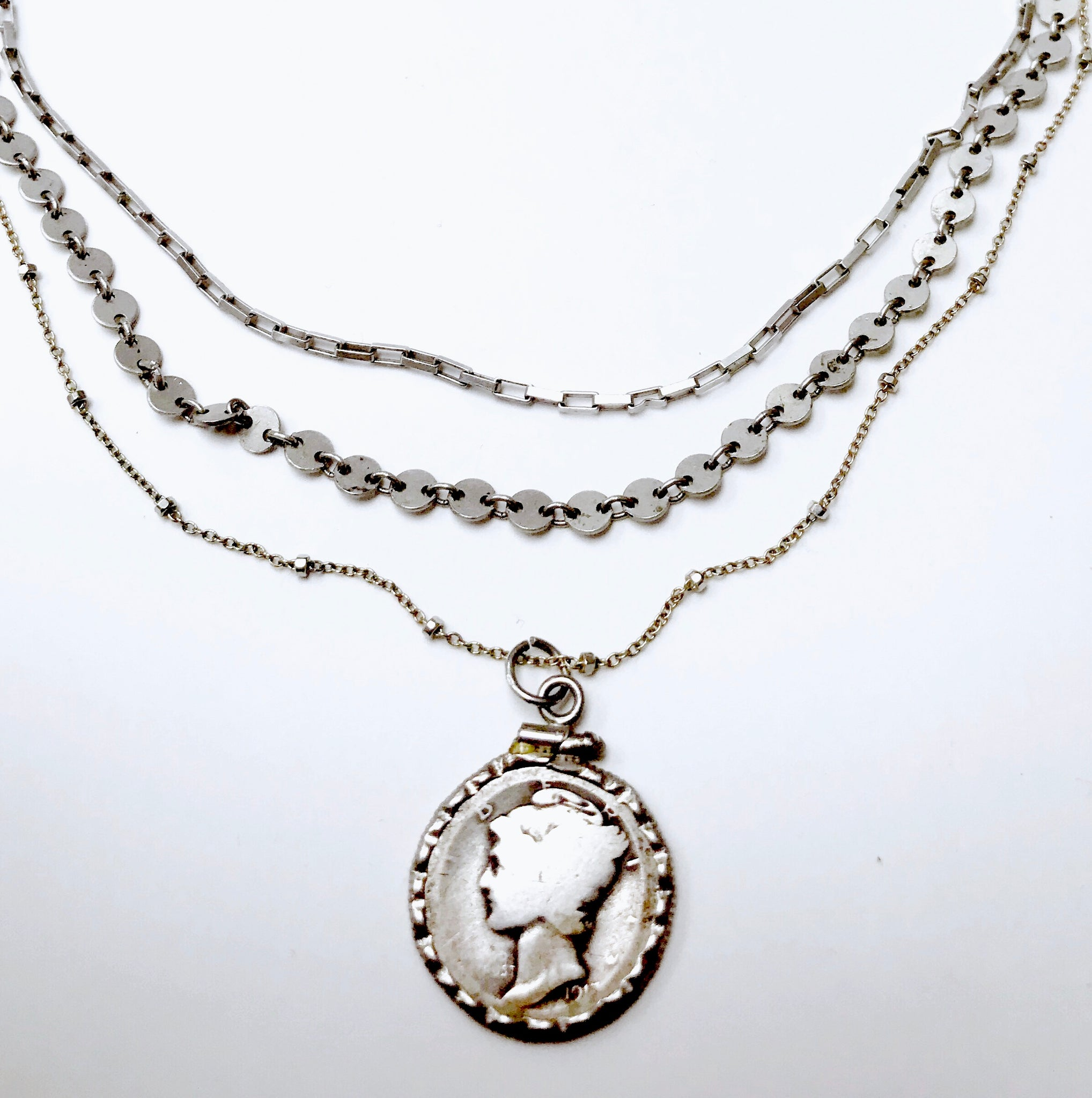a buy necklace silver by klio mum coin mun designers at joma marvellous jewellery