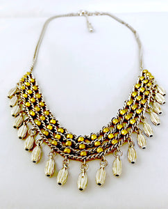 Gold & Silver Collar Necklace