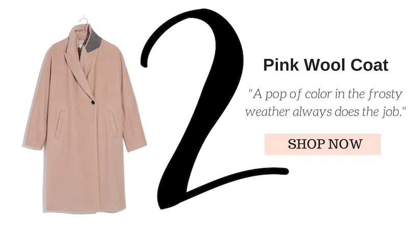 madewell pink wool coat