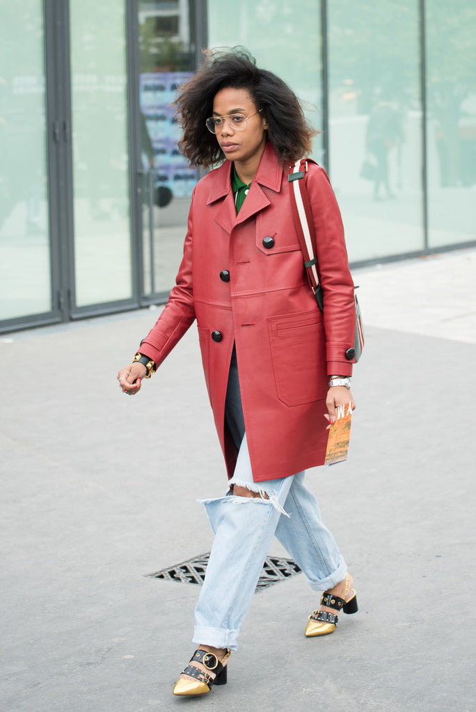 how to wear blue and red Jan Michael Quammie street style