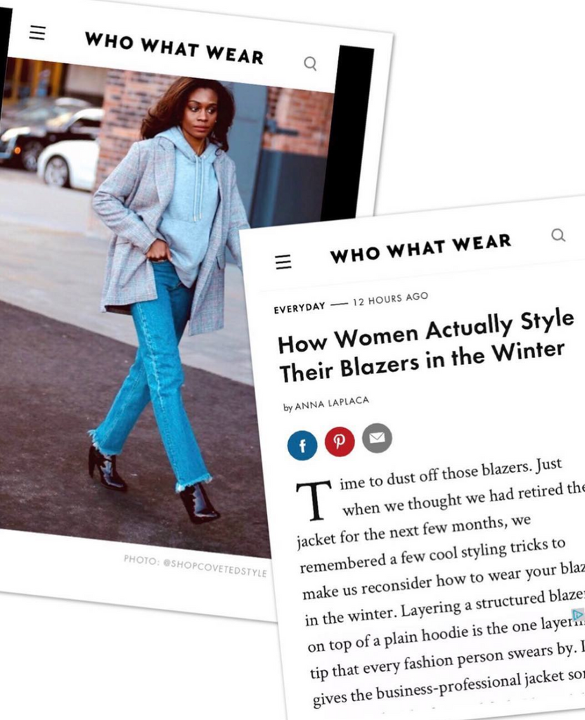 Coveted Style on Who What Wear Blazer Article