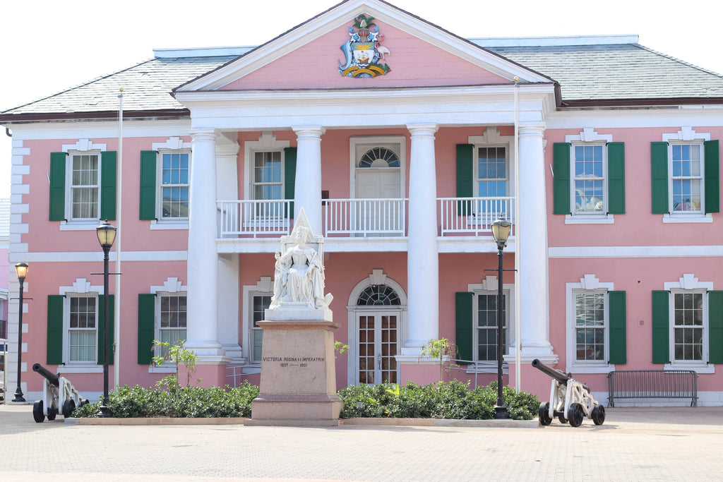 coveted style bahamas travel guide image of parliament in nassau, bahamas
