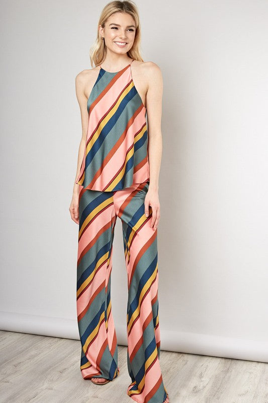Striped Satin Tank - Coveted Style
