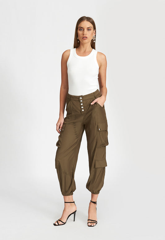 Khaki Cypress Cargo Pant - Coveted Style