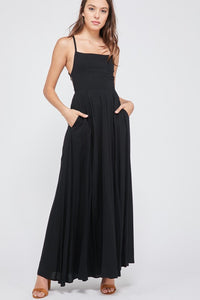 Open Back Maxi Dress - Coveted Style