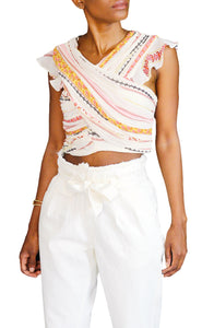 Bethany Printed Crop Top - Coveted Style