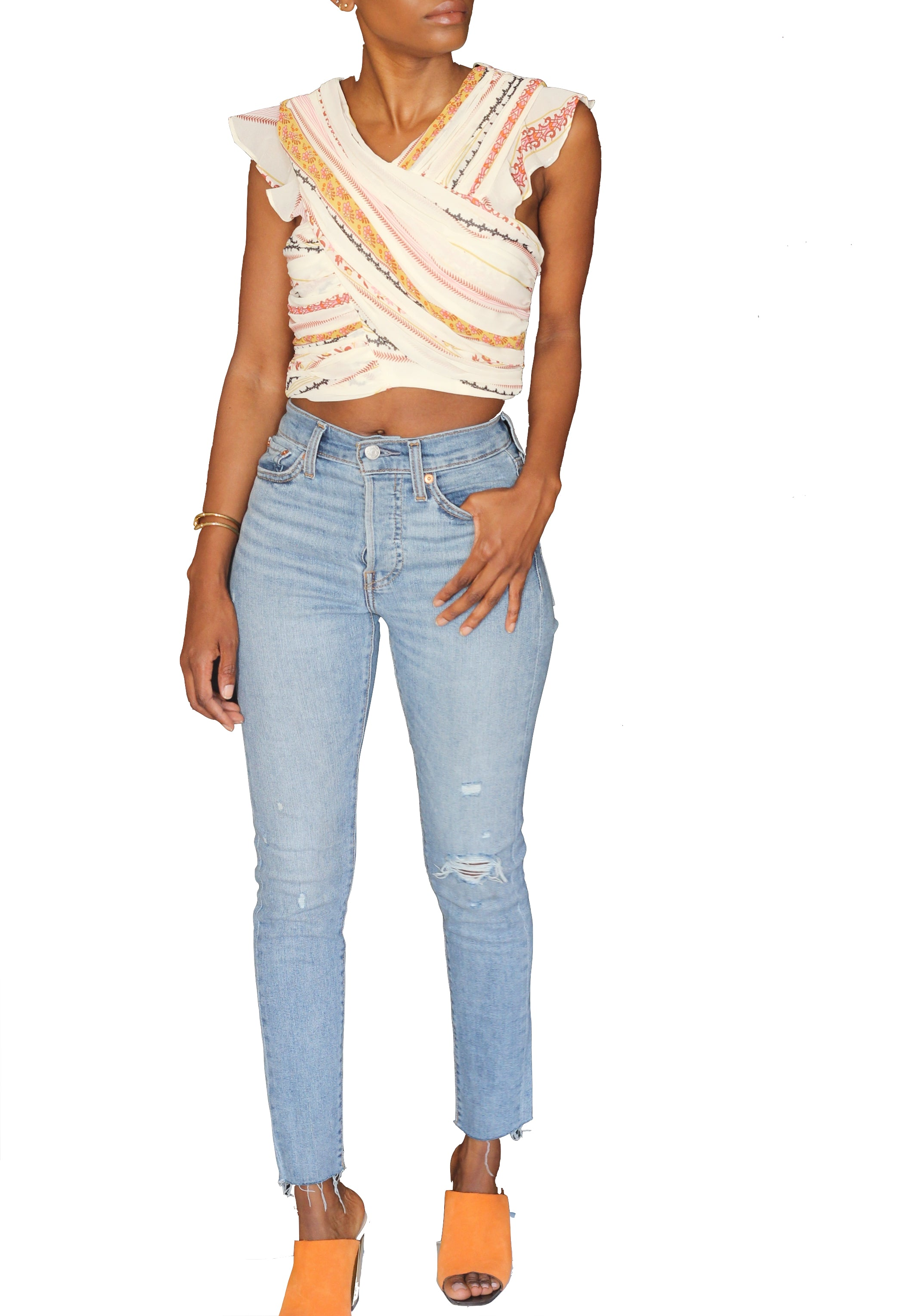 Bethany Printed Crop Top - Cultur'd Collective