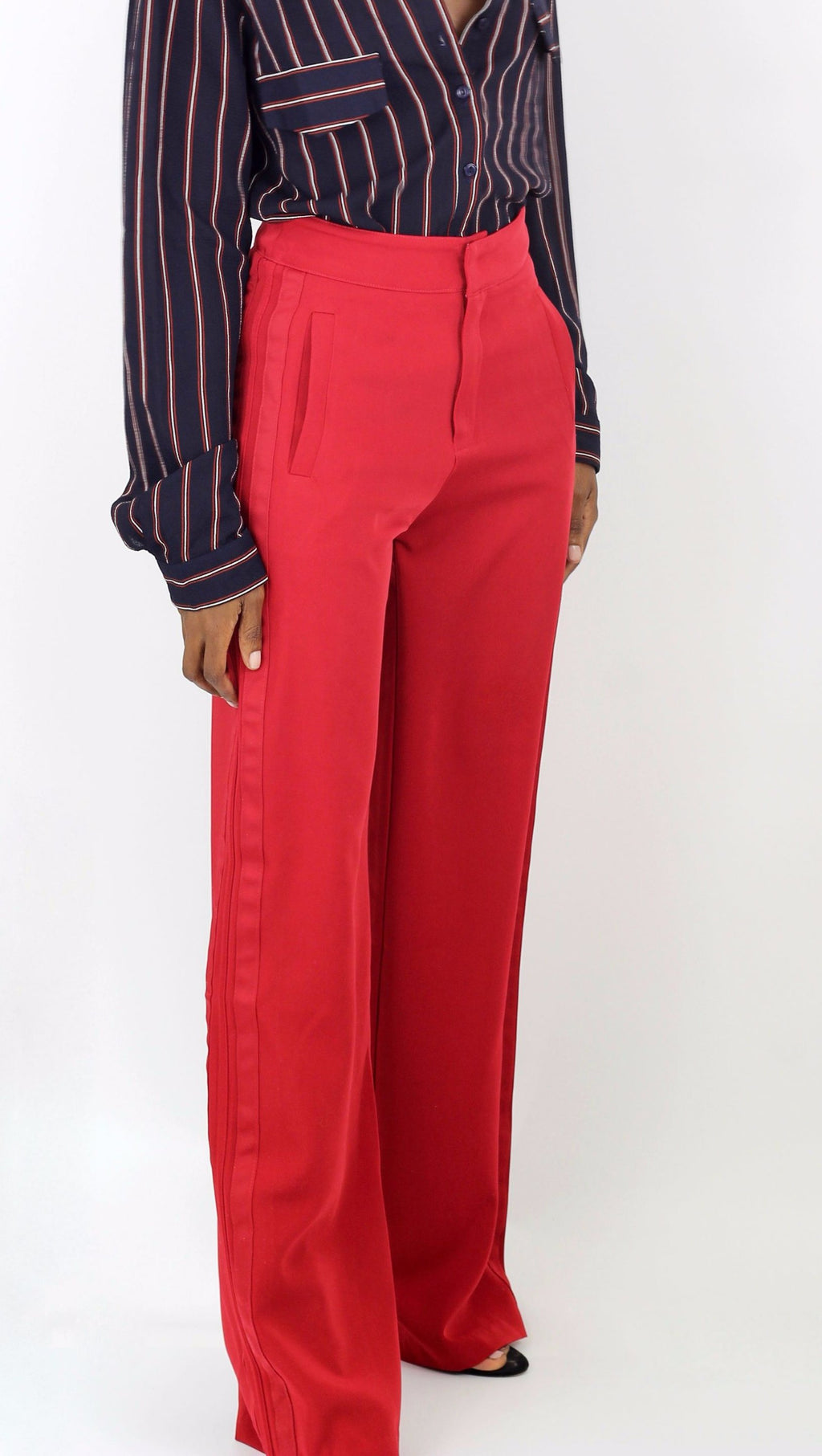 Red Wide Leg Trouser - Cultur'd Collective