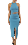 Teal Cutout Bodycon Dress