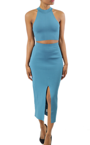 Teal Cutout Bodycon Dress - Coveted Style