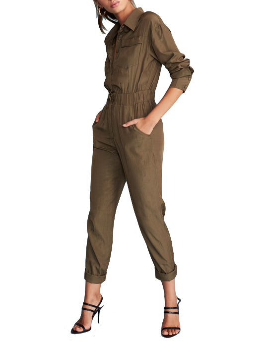 Khaki Lara Jumpsuit - Coveted Style