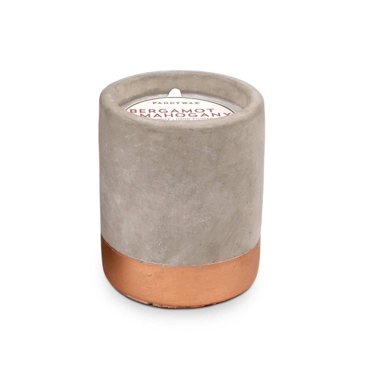 Urban Concrete Pot Bergamot + Mahogany Candle - Coveted Style